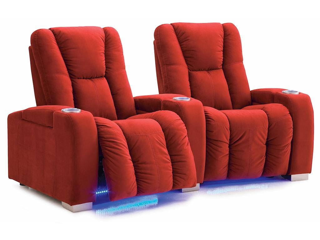 Palliser MediaReclining Power 2-Seater Sectional