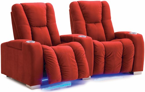 Palliser Media Contemporary Manual Reclining 2-Seater Home Theater Sectional