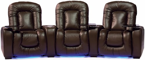 Palliser Mendoza 41404 Reclining Home Theater Seating W/Cup Holders