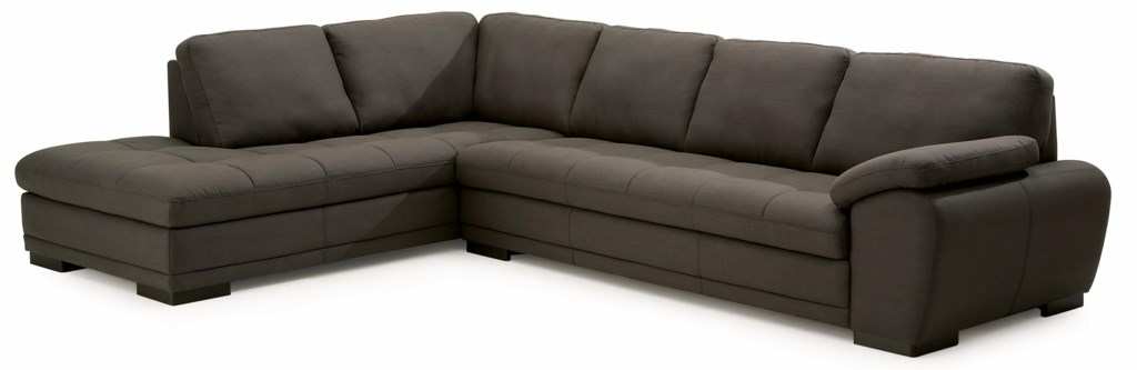 Palliser Miami Contemporary 2 Piece Sectional Sofa With Left Facing