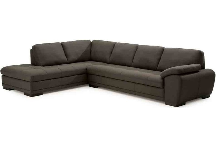Miami Contemporary Sectional Sofa with Chaise