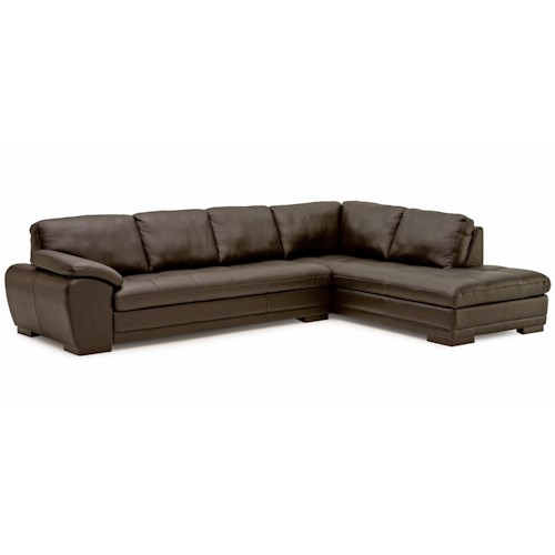 Palliser Miami Contemporary 2-Piece Sectional Sofa with Right-Facing Chaise