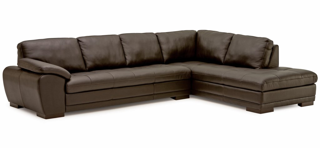 Palliser Miami Contemporary 2 Piece Sectional Sofa With Right Facing
