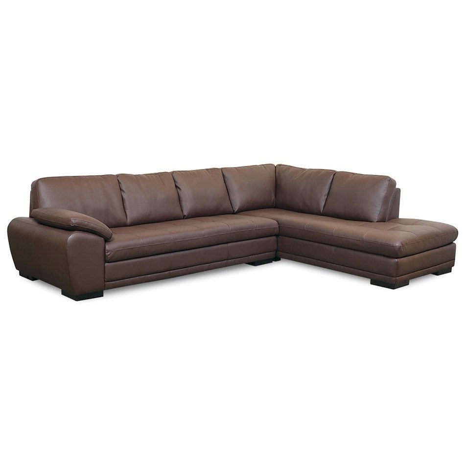 Palliser Miami Contemporary 2 Piece Sectional Sofa With Right