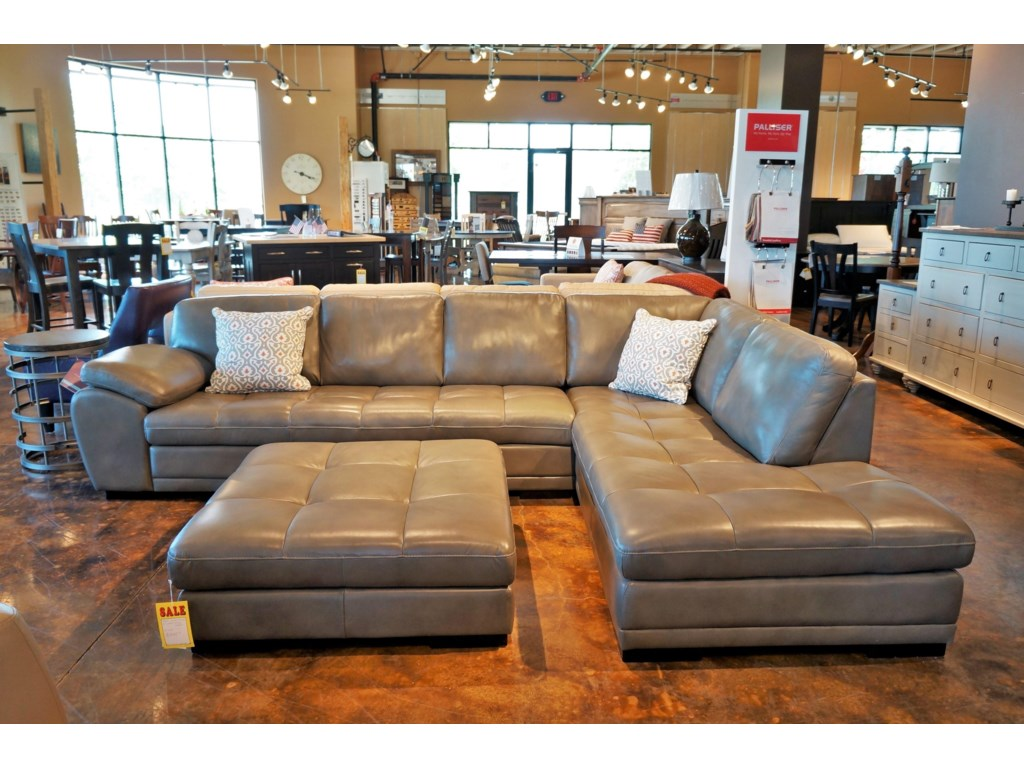 Palliser Miamicontemporary Sectional Sofa With Chaise