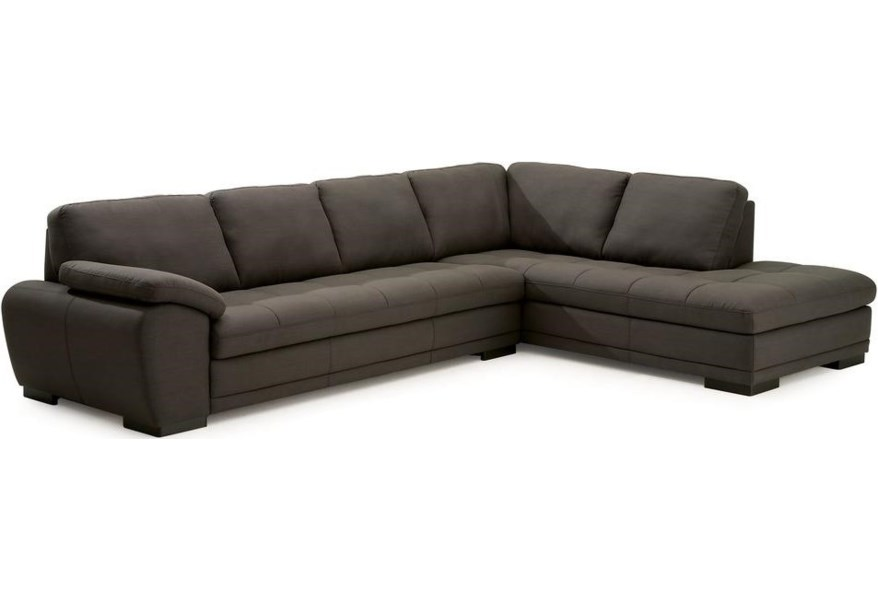 Miami Contemporary 2-Piece Sectional with Corner Chaise by Palliser at Dunk  & Bright Furniture