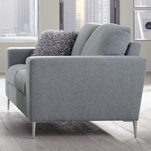 Palliser Mica Contemporary Loveseat with Track Arms