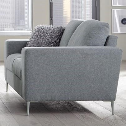 Palliser Mica Contemporary Loveseat With Track Arms | Belfort Furniture |  Love Seats
