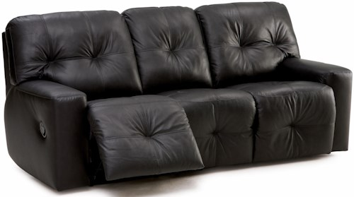 Palliser Mystique Transitional Power Sofa Recliner with Track Arms and Tufting