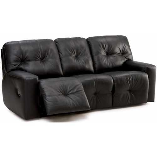 Palliser Mystique Transitional Sofa Recliner with Track Arms and Tufting