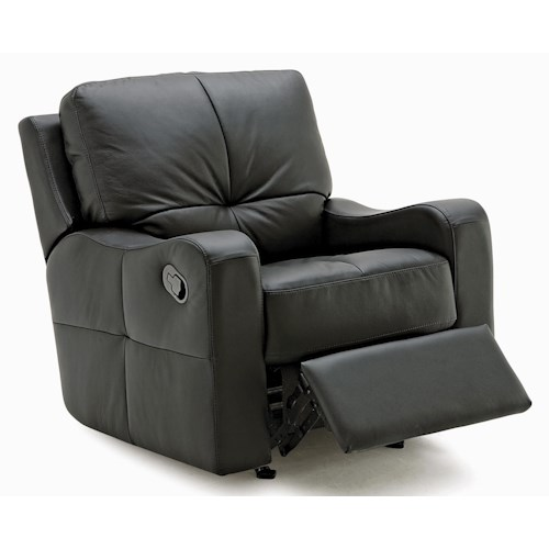 Palliser National Contemporary Rocker Recliner with Sloped Track Arms