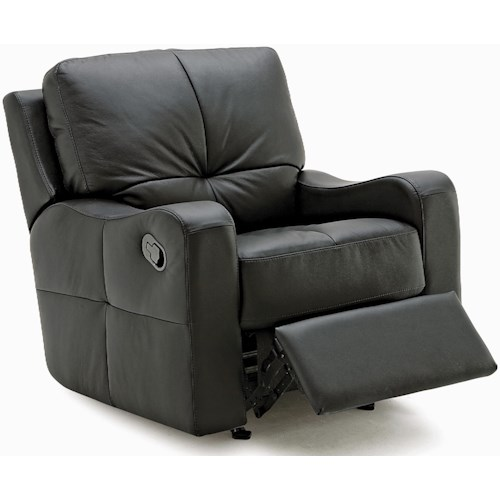 Palliser National Contemporary Swivel Rocker Recliner with Sloped Track Arms