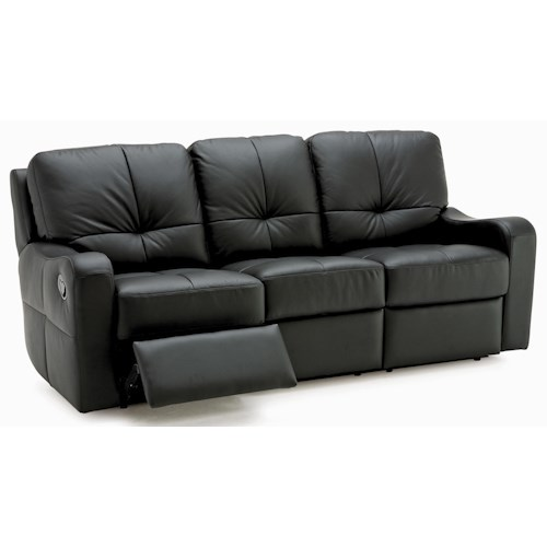 Palliser National Contemporary Sofa Recliner with Sloped Track Arms