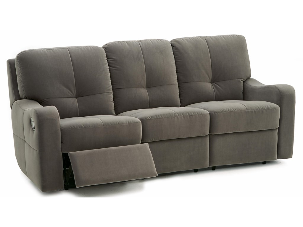 National Contemporary Sofa Recliner with Sloped Track Arms ...