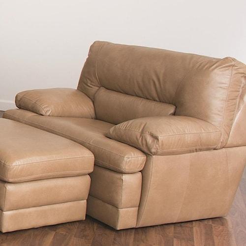 Palliser Northbrook Leather Chair w/ Padded Headrest