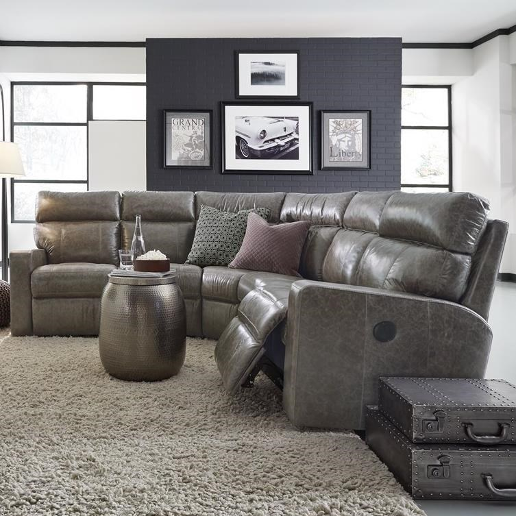 Palliser Oakwood Contemporary Reclining Sectional Sofa with Track