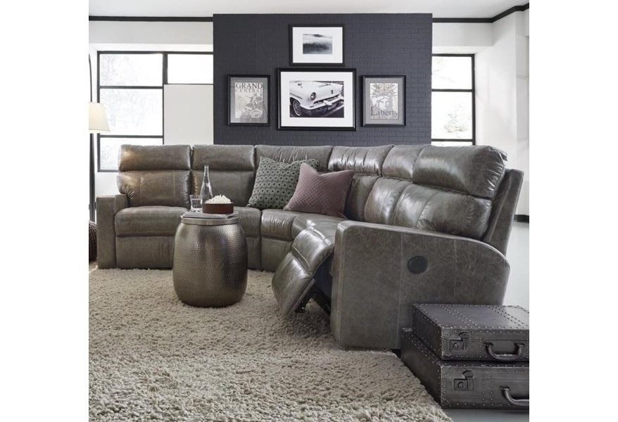 Palliser Oakwood Contemporary Reclining Sectional Sofa with ...