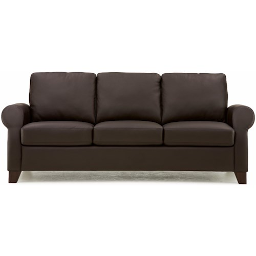 Palliser Ottawa Transitional Sofa with Sock Arms and Tapered Legs