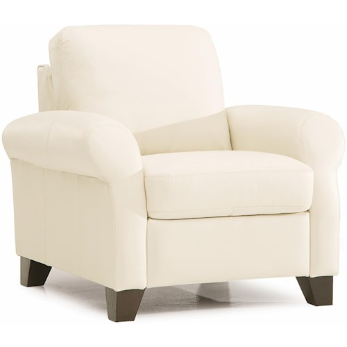 Palliser Ottawa Transitional Chair with Sock Arms and Wood Legs