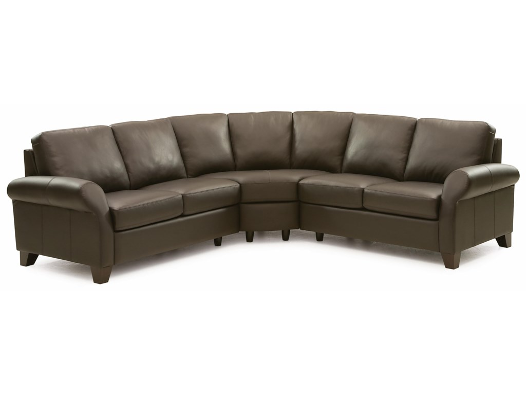 Transitional 3 Piece Sectional Sofa