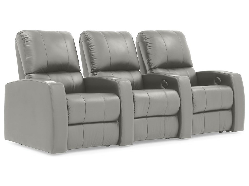 Palliser Pacifico 3-Seat Power Reclining Theater Seating