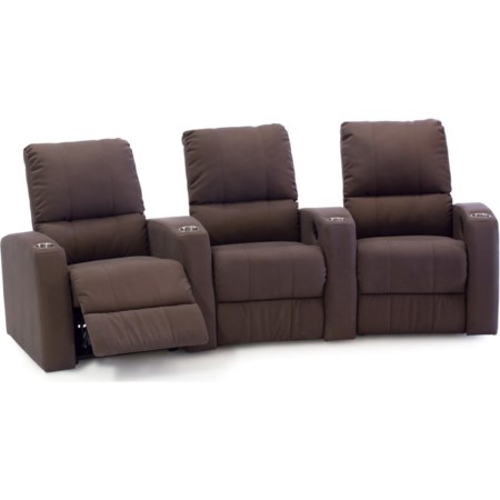 3-Seat Curved Power Theater Seating