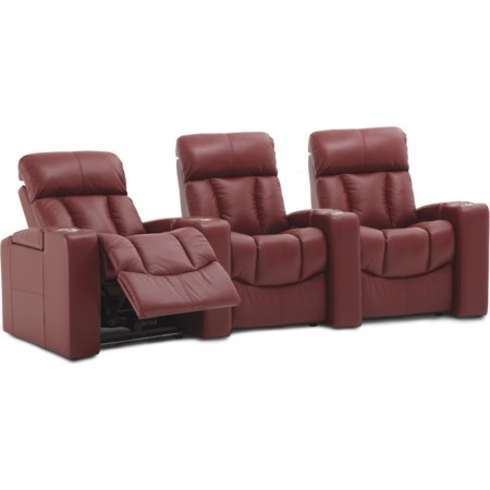 3-Seat Pwr Reclining Home Theater Set w/ Wdg