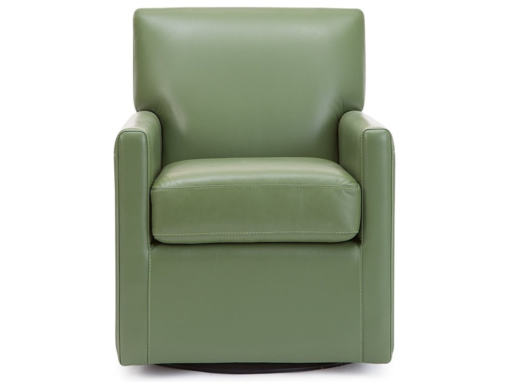 Palliser Pia Contemporary Swivel Chair with Track Arms ...