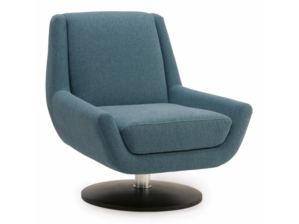 Palliser Plato 70017 96 Contemporary Swivel Chair With Metal Base
