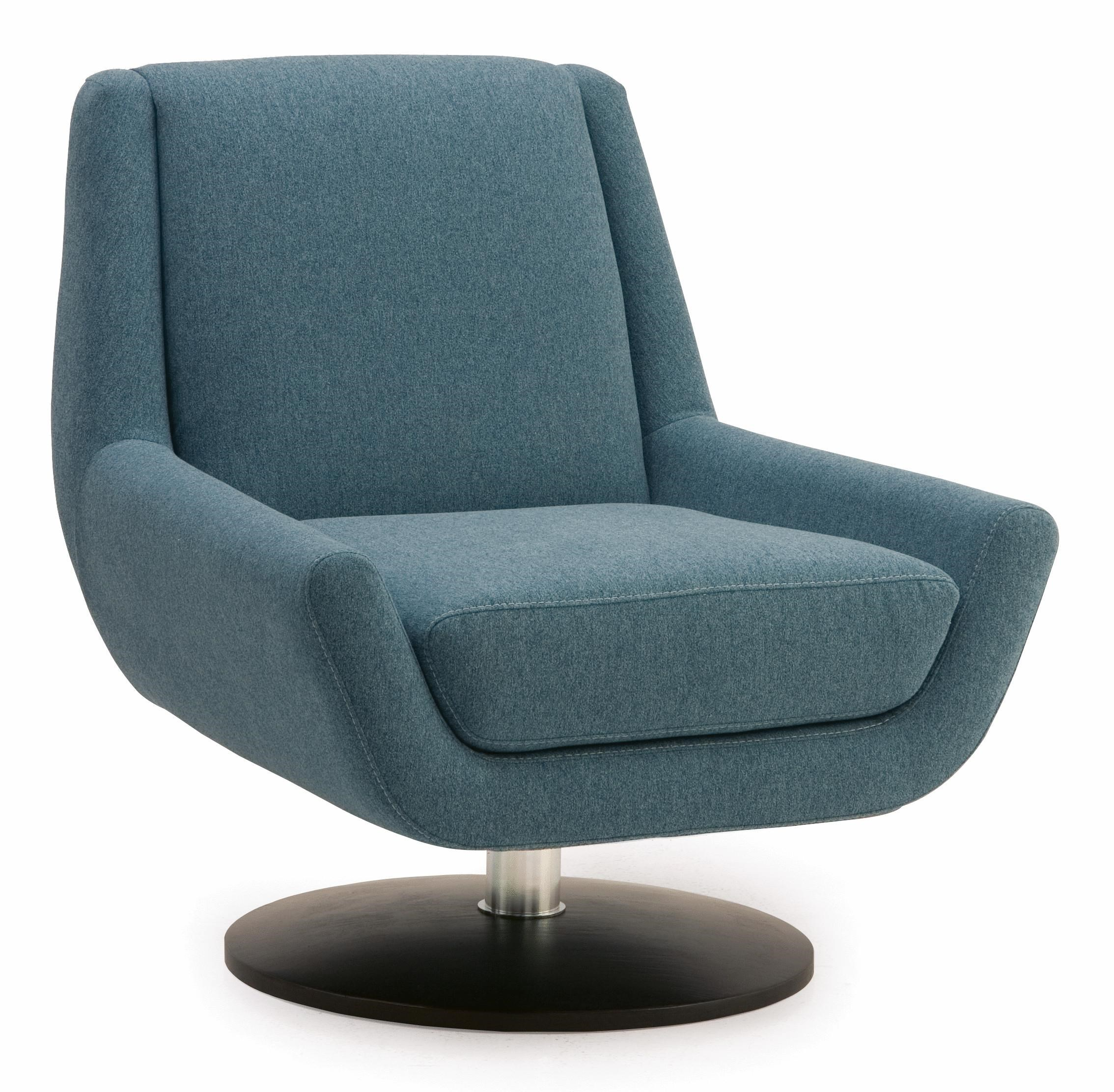 Palliser Plato Contemporary Swivel Chair With Metal Base   Dunk U0026 Bright  Furniture   Upholstered Chair