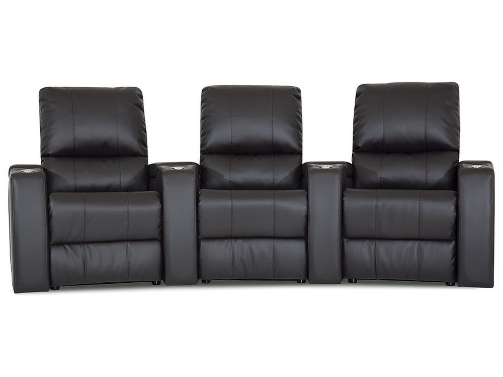 Palliser Playback 3 Person Power Reclining Theater Seating ...