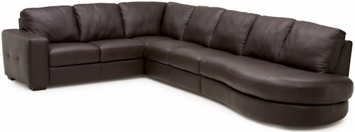 Palliser Push Contemporary Reclining Sectional Sofa