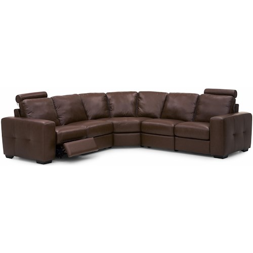 Palliser Push Contemporary Dual Reclining Sectional Sofa