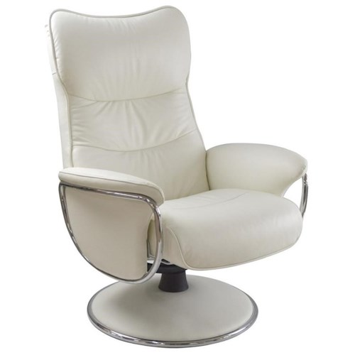 Palliser Quantum Contemporary Reclining Chair with Padded Arms and Chrome Accents