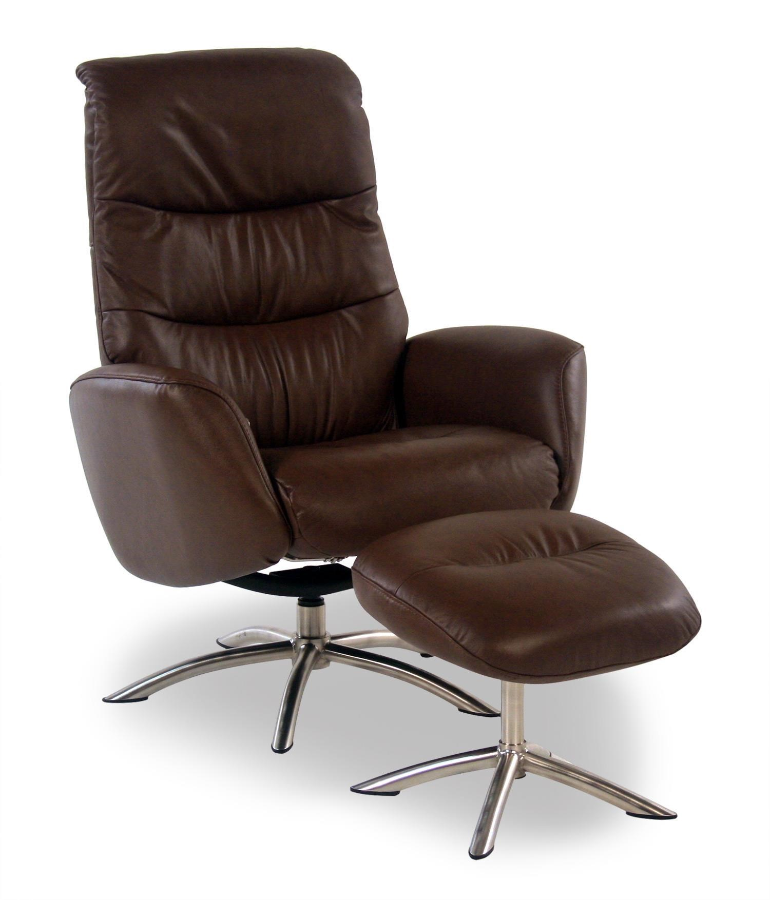 quantum contemporary leather reclining chair and ottoman w chrome rh rotmans com