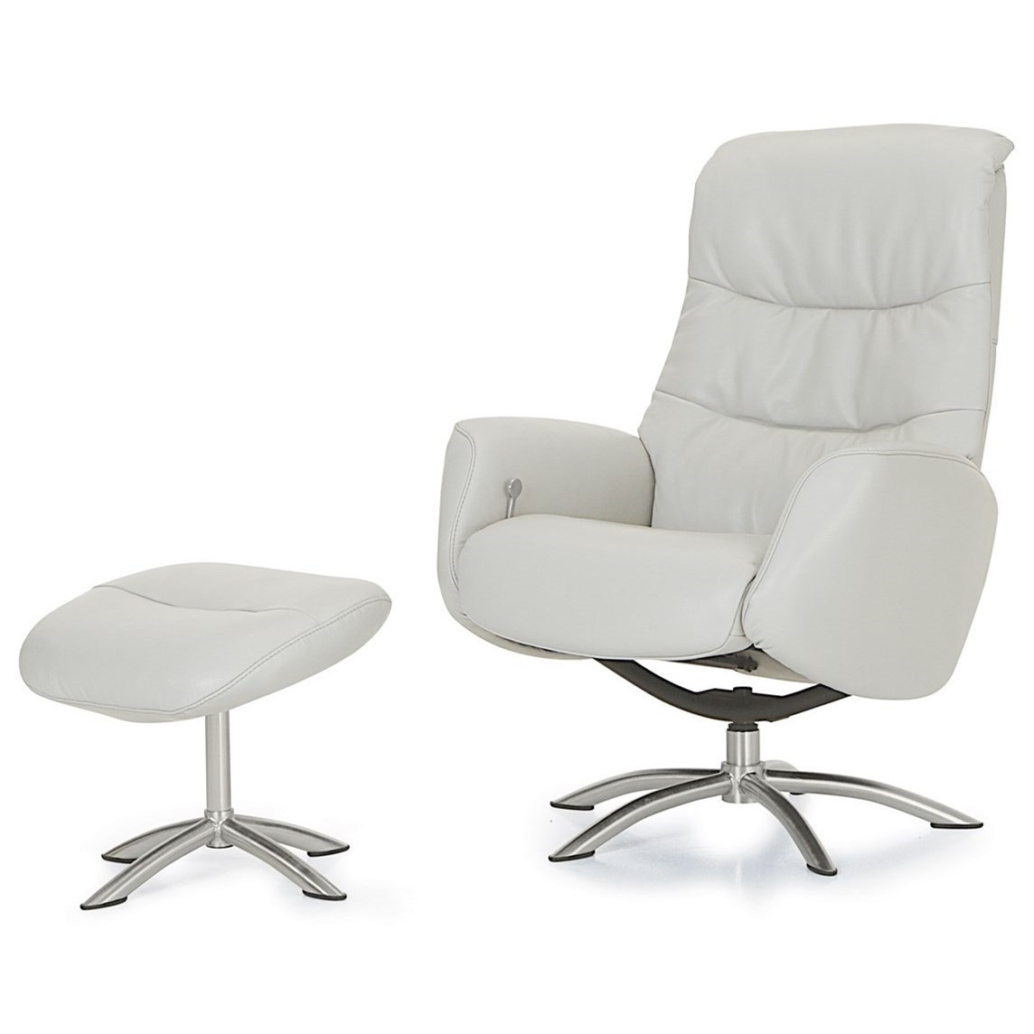 Superieur Palliser Quantum Contemporary Reclining Chair And Ottoman With Chrome Bases