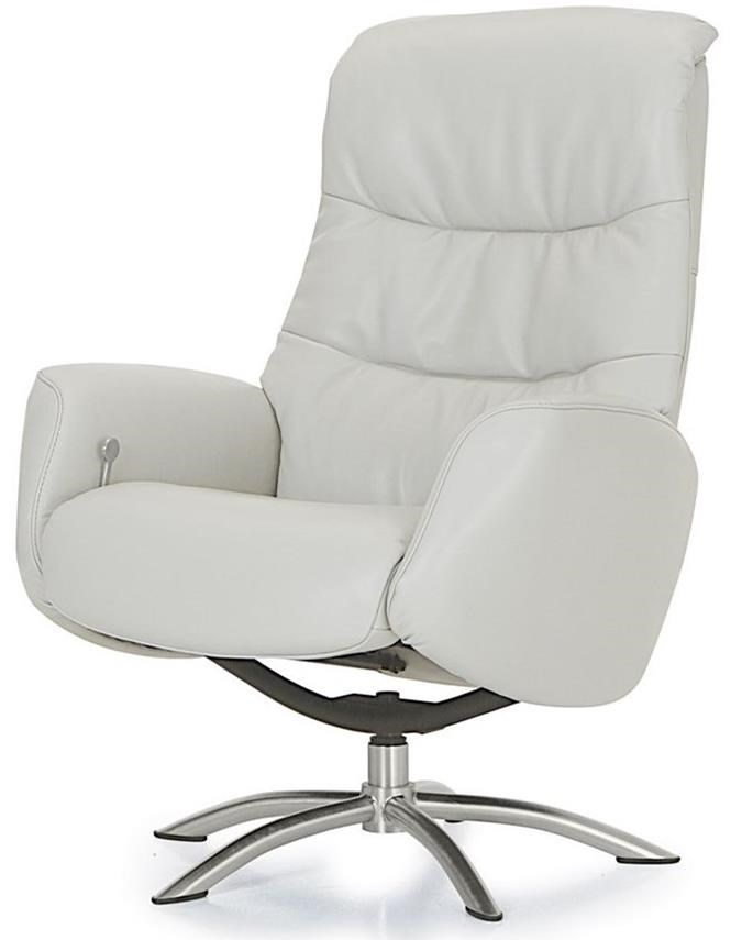 Palliser Quantum Contemporary Reclining Chair With Chrome Swivel Base