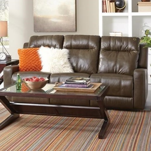 Palliser Redwood Casual Power Reclining Sofa with Power Headrest and USB Ports