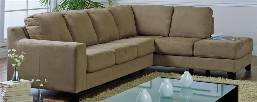 Palliser Reed Upholstered Sectional with attached Chaise - Dunk u0026 Bright Furniture - Sofa Sectional : palliser chaise - Sectionals, Sofas & Couches