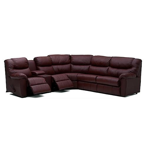 Palliser Regent Casual Reclining Sectional Sofa