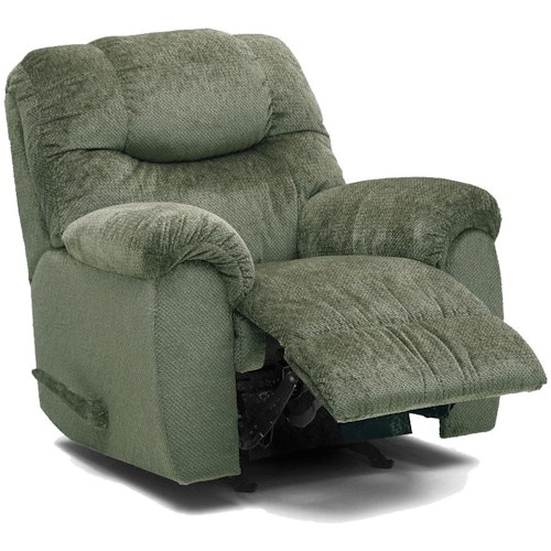Palliser Regent Casual Power Rocking Recliner with Bustle Back