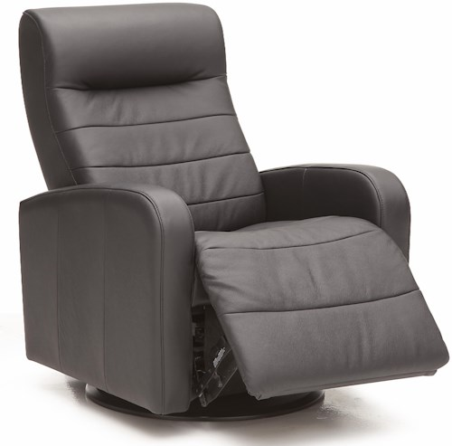 Palliser Riding Mountain II Contemporary Power Wallhugger Recliner with Channel Stitching