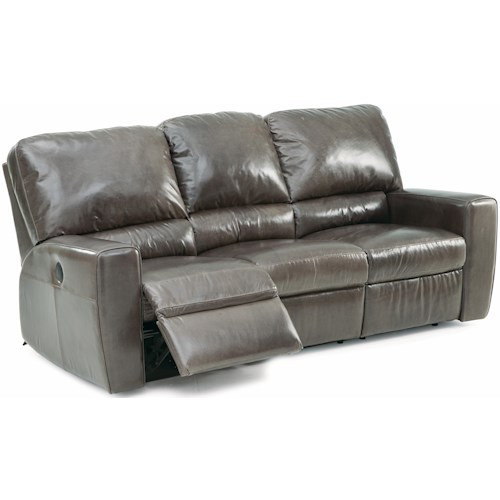 Palliser San Francisco Contemporary Double Reclining Sofa with Track Arms