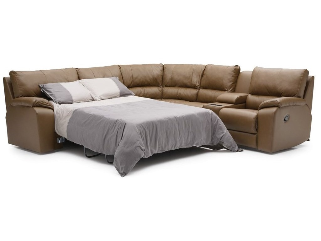 Palliser ShieldsManual Reclining Sectional with LAF Sofabed
