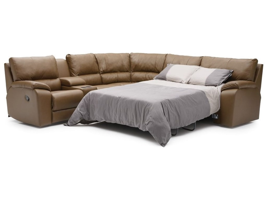 Palliser ShieldsManual Reclining Sectional with RAF Sofabed