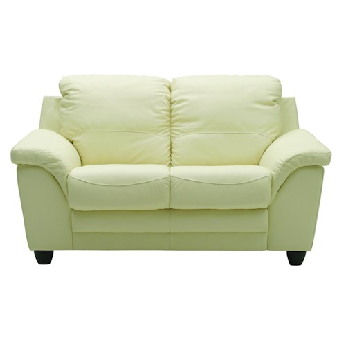 Palliser Sirus Casual Loveseat with Sloped Pillow Arms