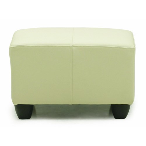 Palliser Sirus Casual Ottoman with Rounded Block Legs