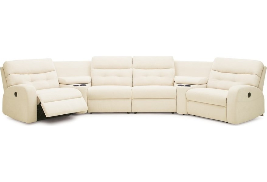 Transitional Reclining Sectional