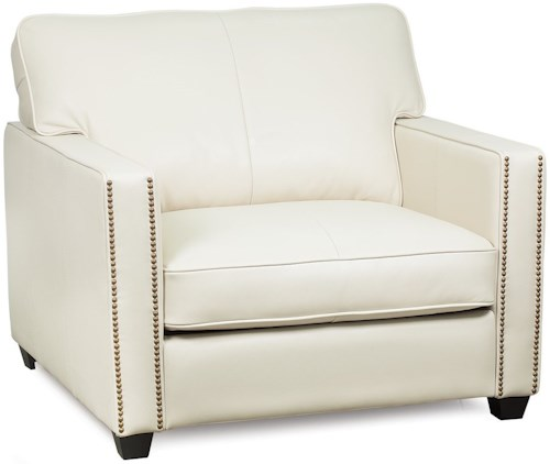 Palliser Talia Contemporary Chair with Track Arms and Nailhead Trim