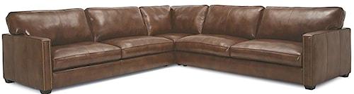 Palliser Talia Contemporary Sectional Sofa with Nailhead Trim